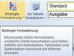 Excel Tabellenzellen mit bedingter Formatierung hervorheben ...