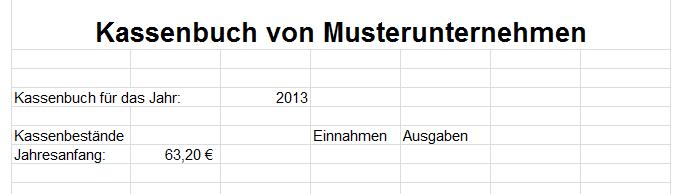 Kostenlose Vorlage Microsoft Excel Kassenbuch downloaden oder ...