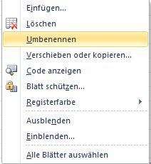 Verwaltung von Excel Arbeitsblättern in einer Arbeitsmappe ...